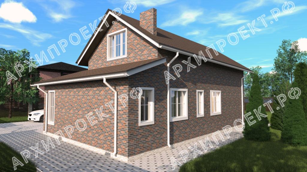 Угловой дом с мансардой планировка