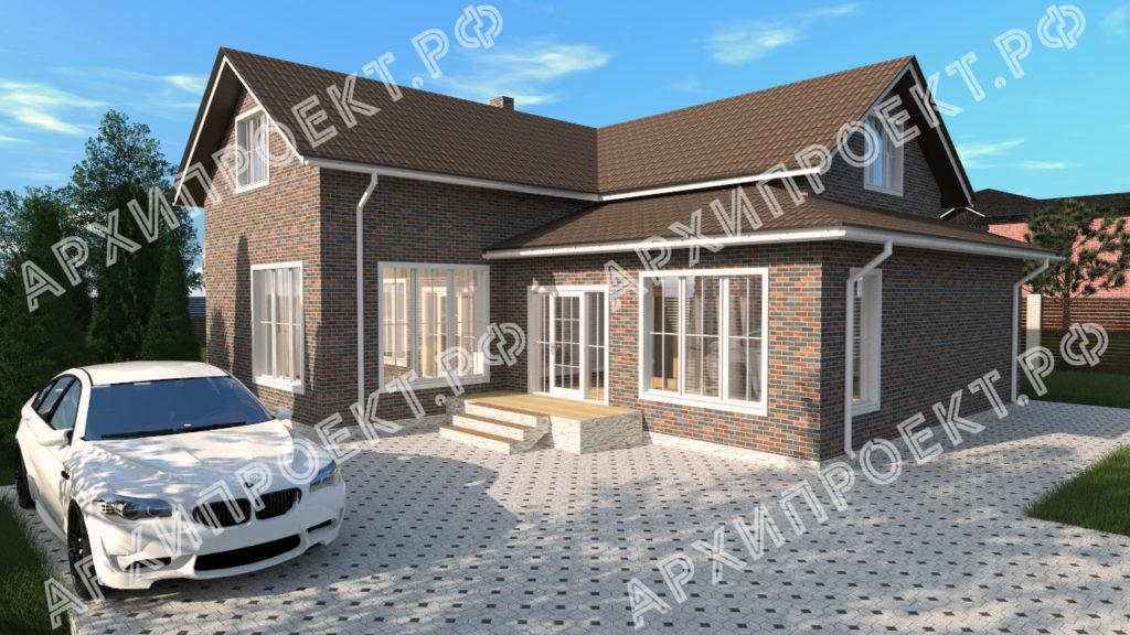 Угловой дом с мансардой