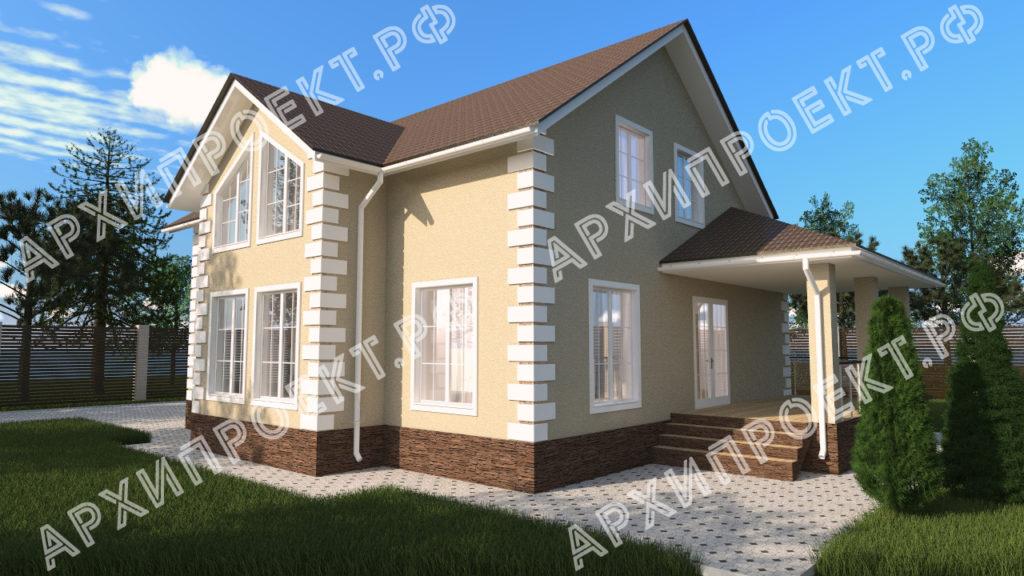 Двухэтажный дом со вторым светом фото