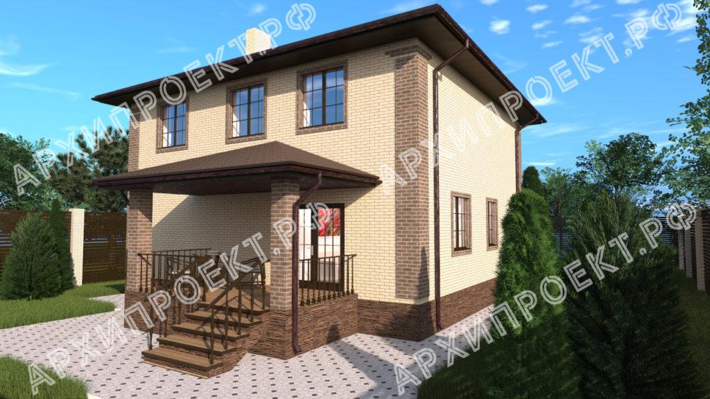 Двухэтажный дом с гаражом на первом этаже с террасой фото