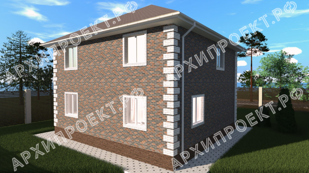 Практичный двухэтажный дом из газобетона