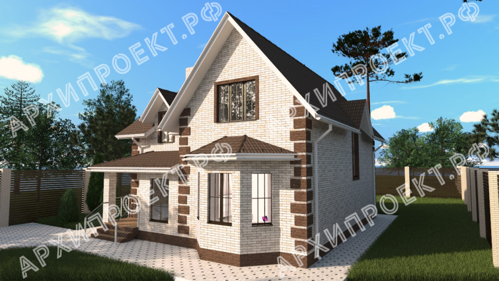 Проект дома с эркером фото