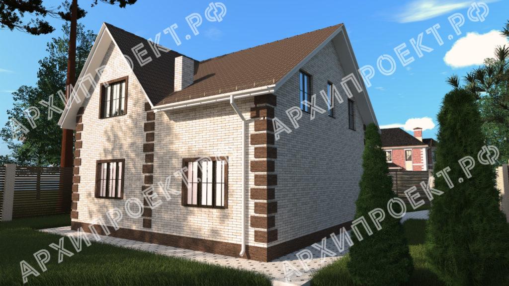 Проект дома с эркером Казань строительство