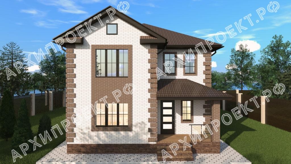 Проект двухэтажного дома до 200 кв м