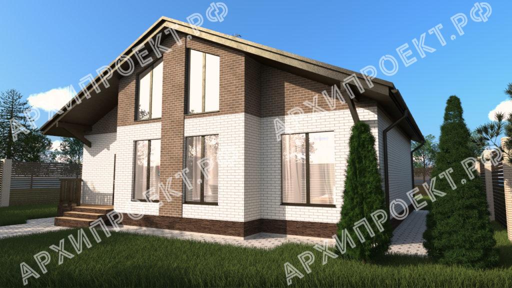 Дом с мансардой из газобетона