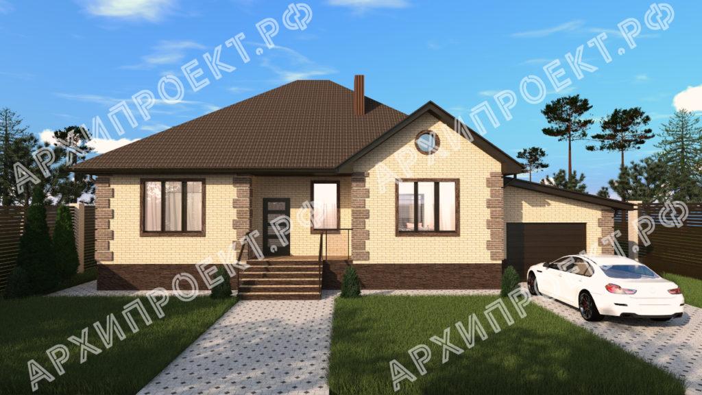 Дом одноэтажный с тремя спальнями