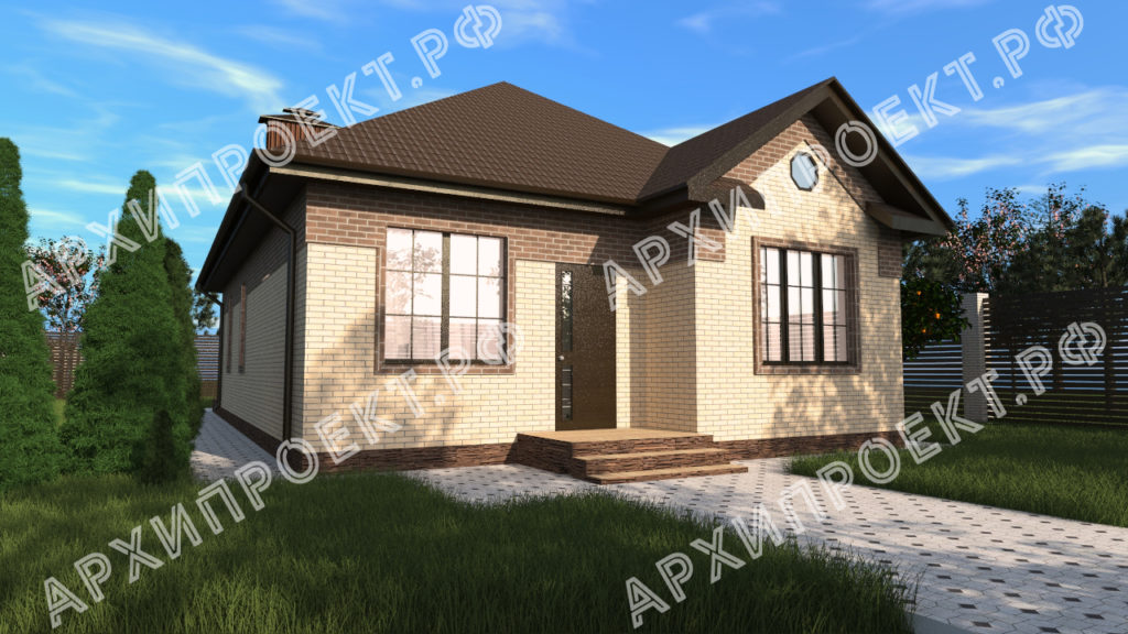 Проект жилого дома одноэтажный