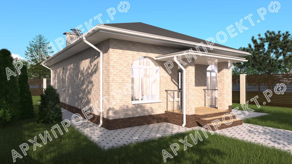 Одноэтажный дом под ключ
