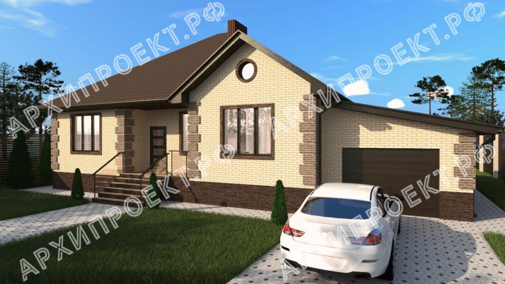 Дом одноэтажный с тремя спальнями купить проект