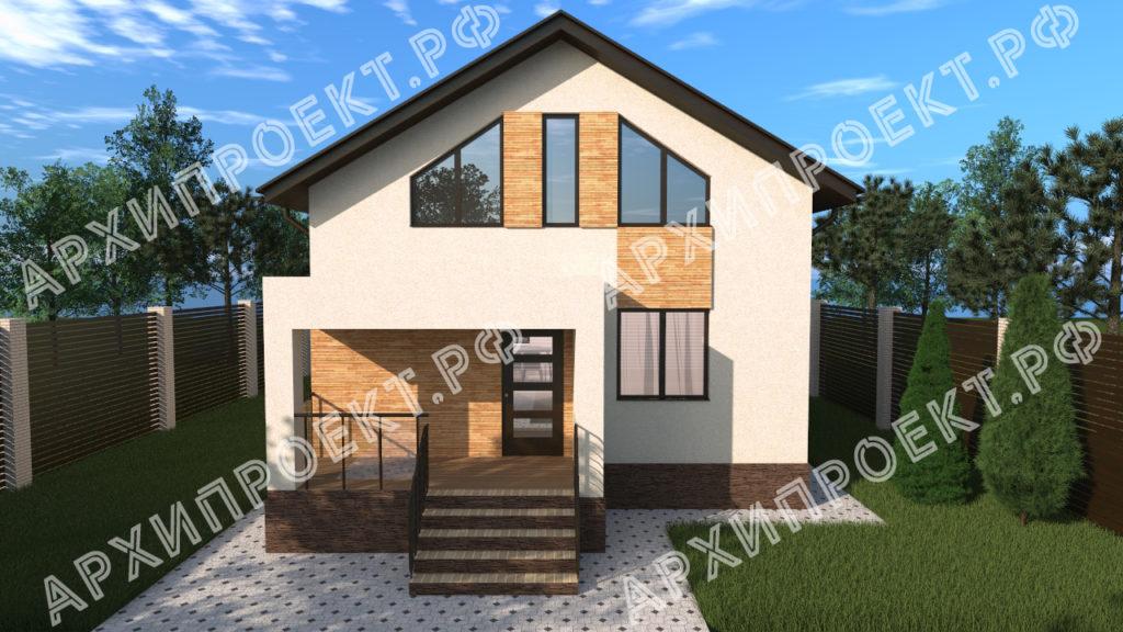 Современный дом с мансардой