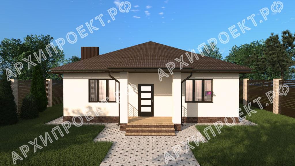 Проект одноэтажного дома с сауной купить