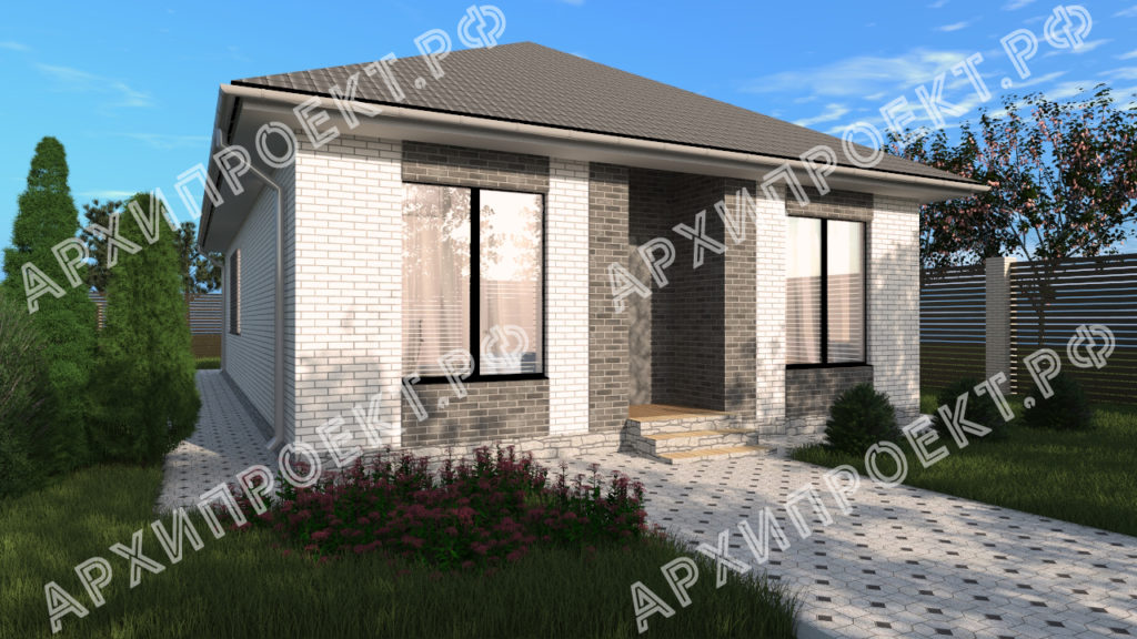 Проект простого дома главный фасад