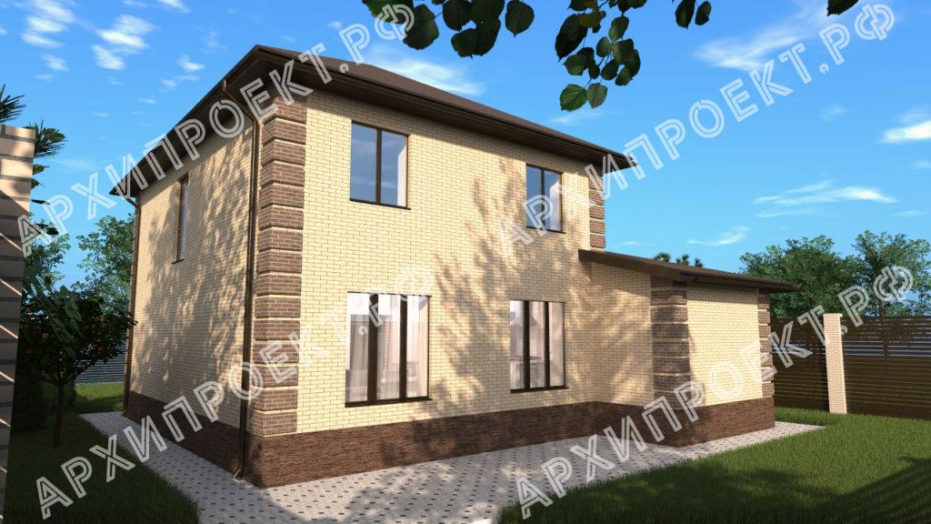 Двухэтажный дом с баней и с гаражом с панорамными окнами