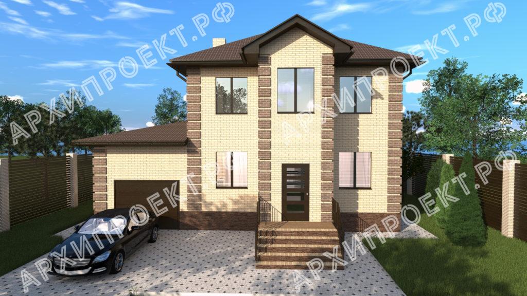 Двухэтажный дом с баней и с гаражом
