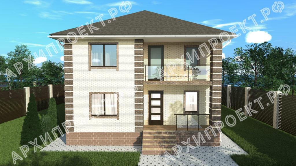 Проект двухэтажного дома из кирпича