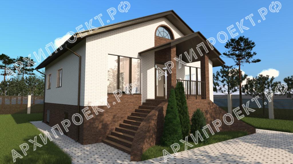 Одноэтажный дом с цоколем купить проект