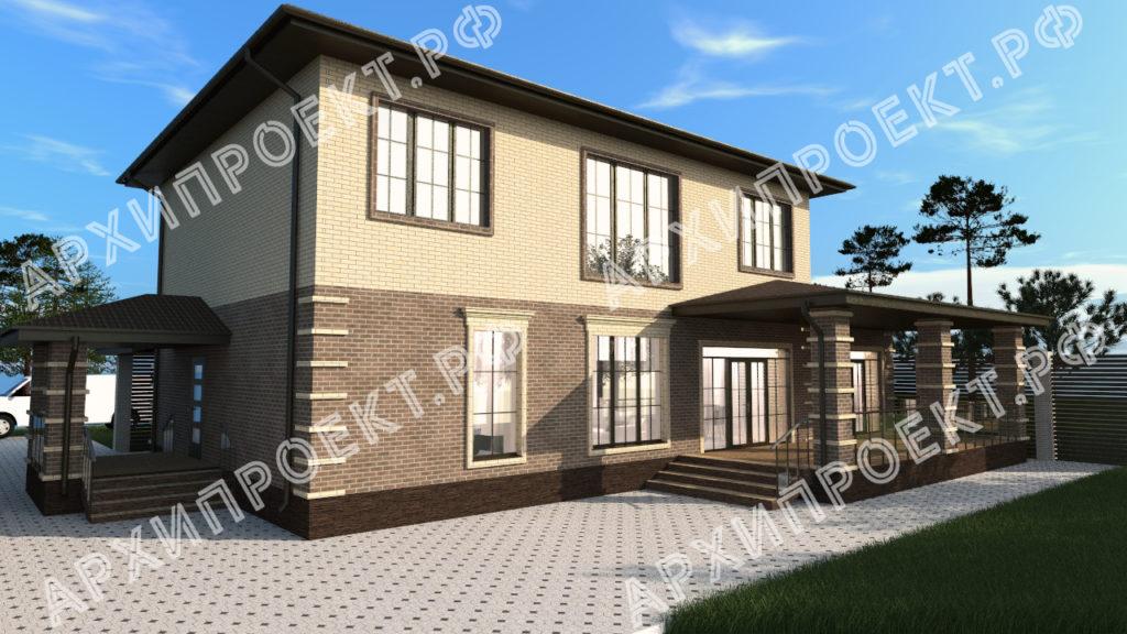 Дом с террасой и с баней купить проект