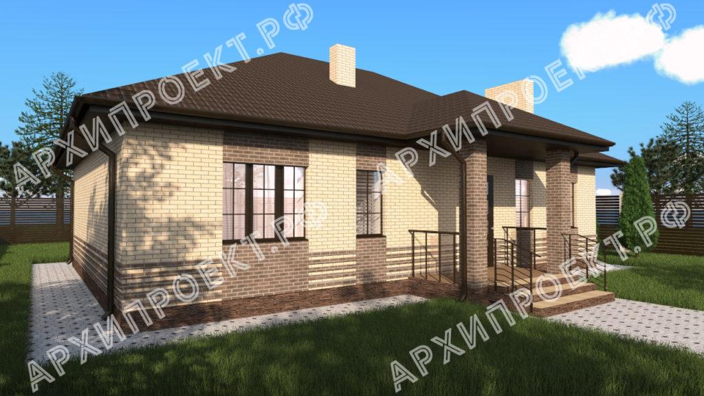 Одноэтажный дом с сауной купить проект