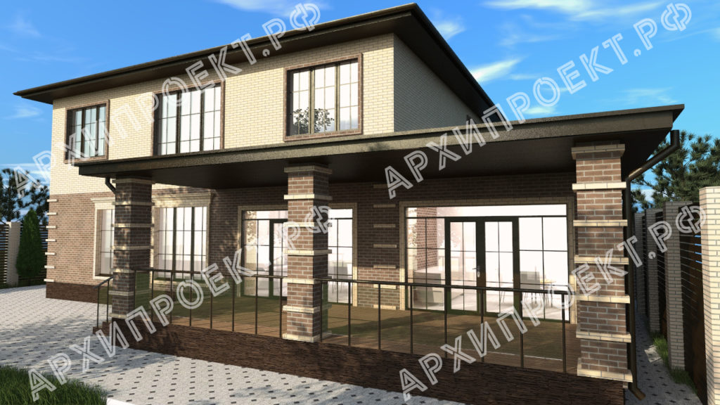 Дом с террасой и с баней фото