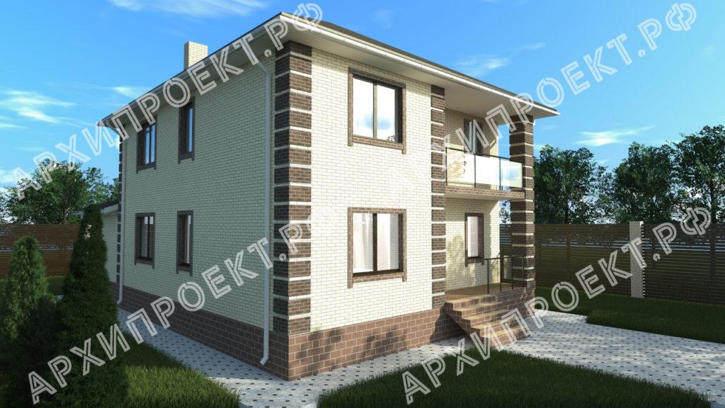 Проект двухэтажного дома из кирпича купить