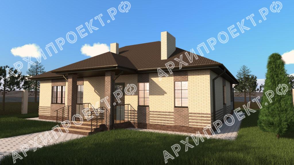 Одноэтажный дом с сауной фото