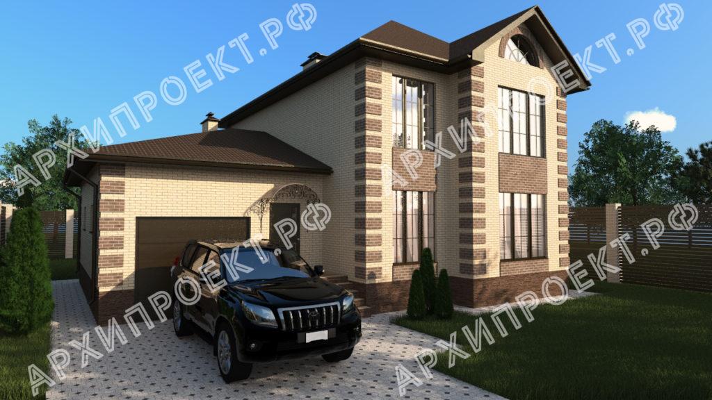 Двухэтажный дом для узкого участка фото