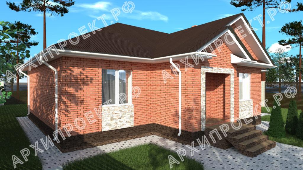 Дом из красного кирпича с четырьмя спальнями