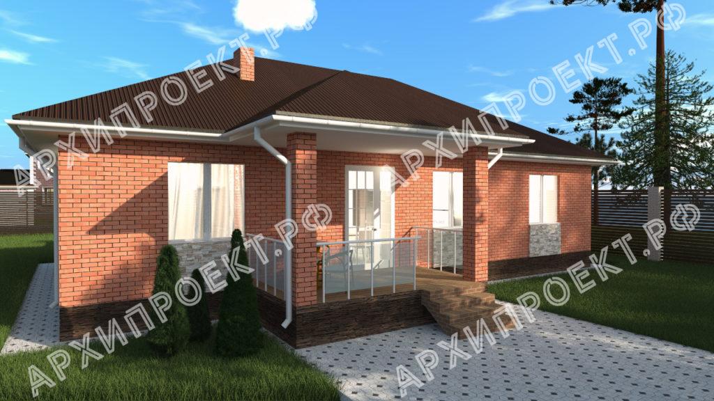 Дом из красного кирпича купить проект