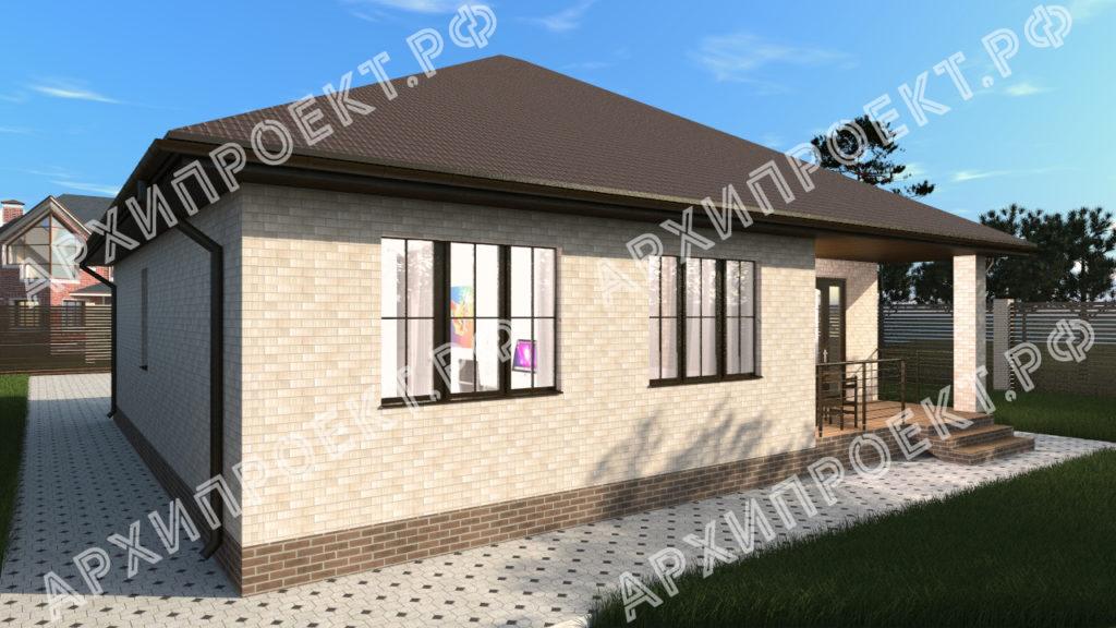 Лучший проект дома с террасой