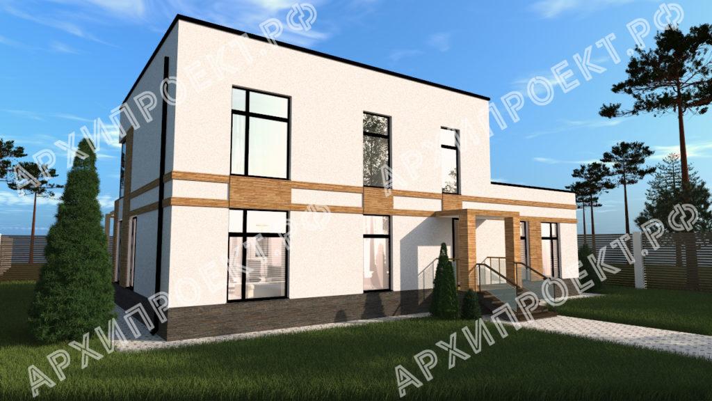 Дом в стиле хай-тек с террасой