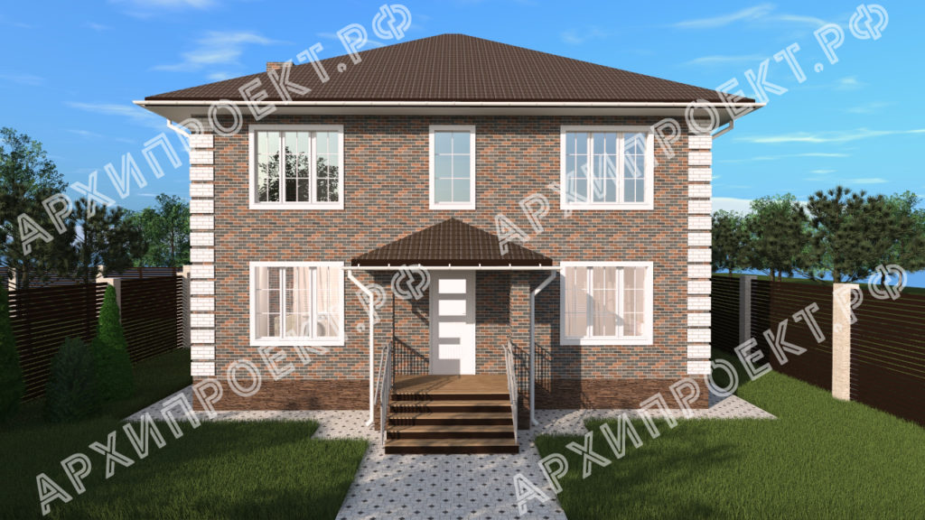 Двухэтажный дом 12 на 12