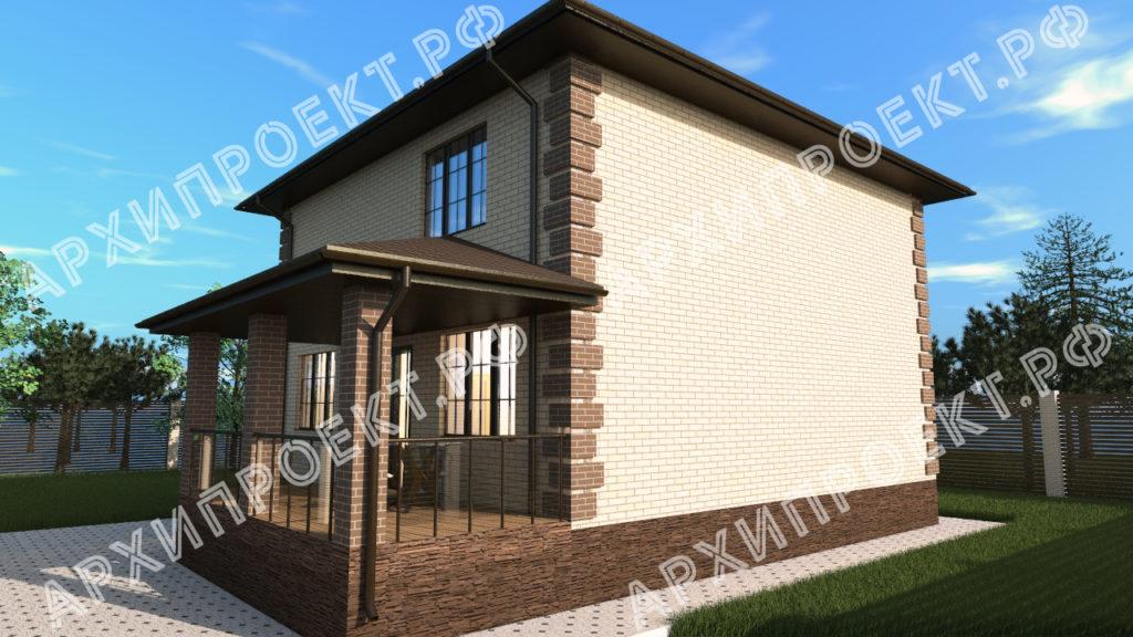 Двухэтажный дом 10 на 10