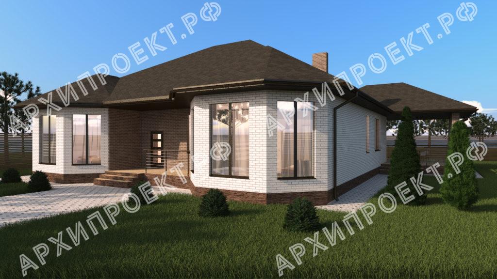 Одноэтажный дом 200 кв м купить проект