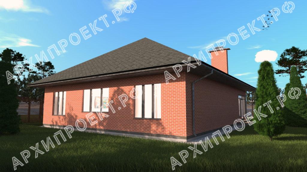 Проект одноэтажного дома с сауной фото