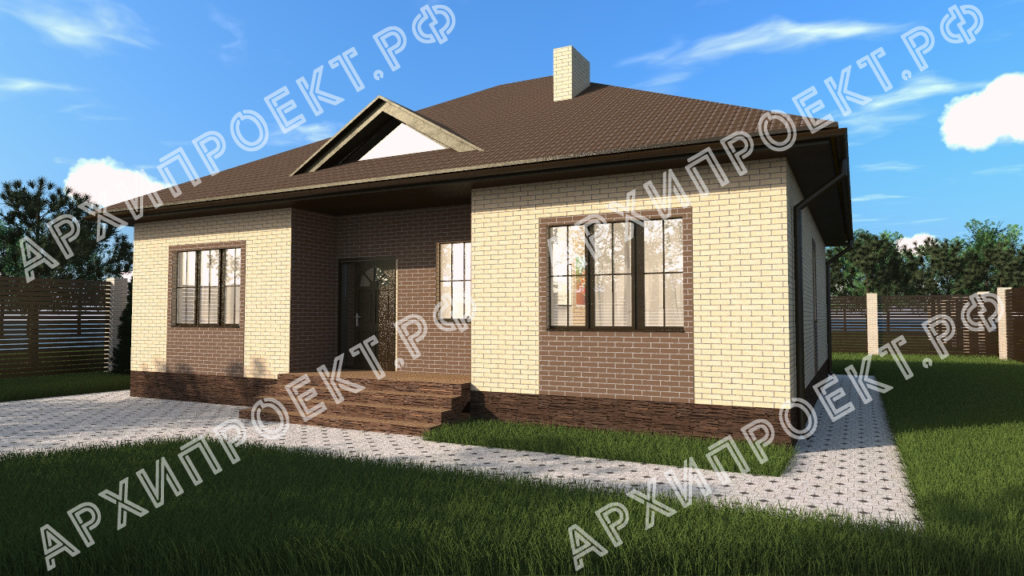 Одноэтажный дом с отличной планировкой