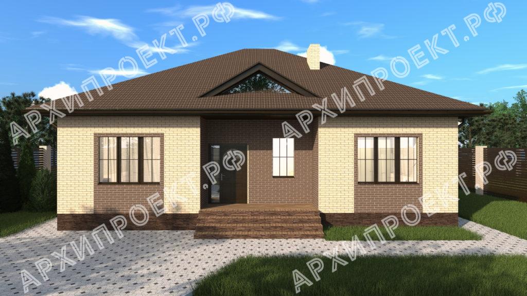 Типовой проект одноэтажного дома