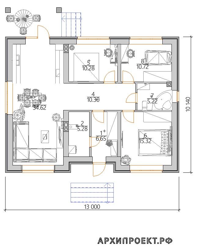 Планировка Одноэтажный дом