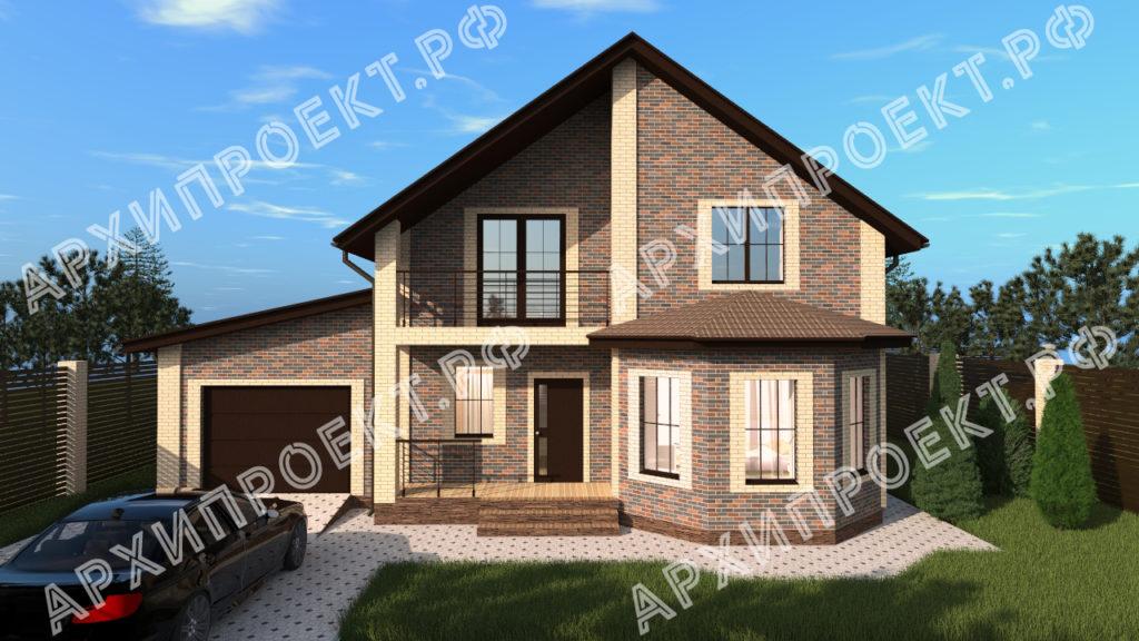 Проект красивого дома с мансардой