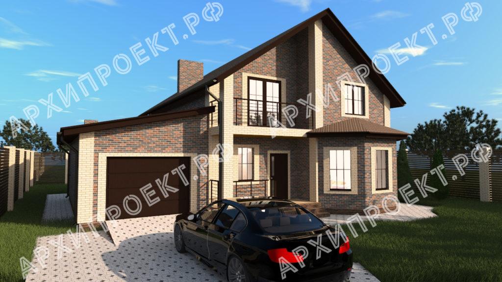 Проект красивого дома с мансардой купить проект