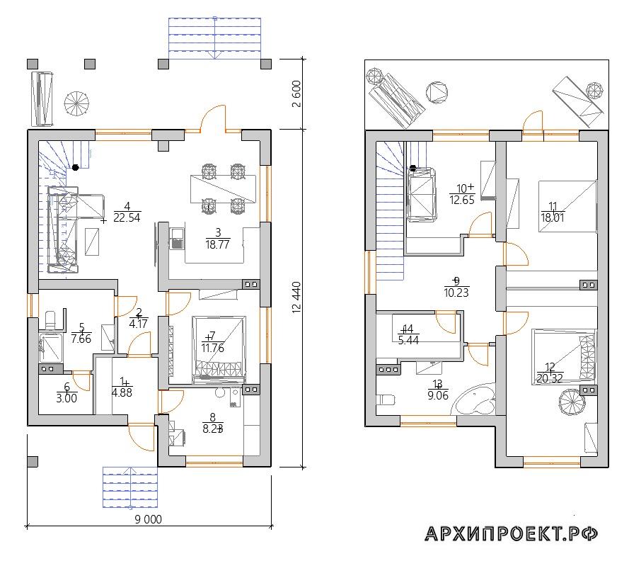 Проект дома с сауной планировка
