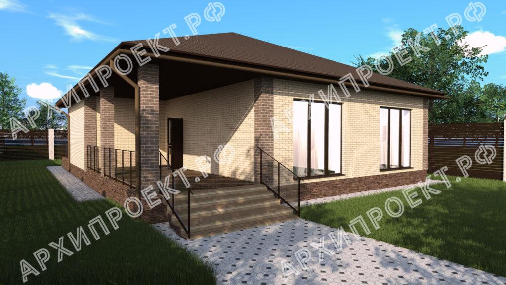 Проект дома с камином из кирпича