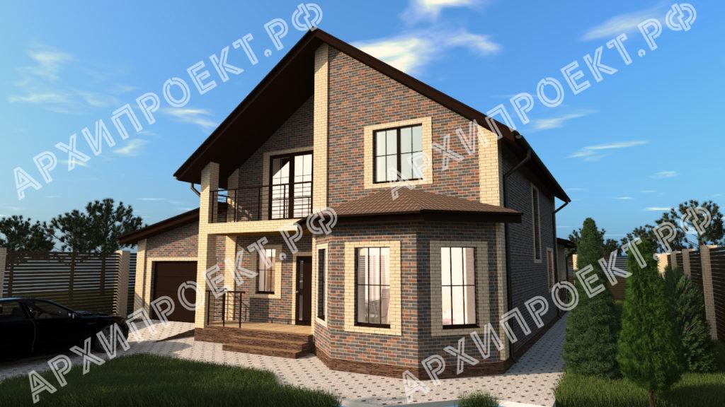 Проект красивого дома с мансардой фото
