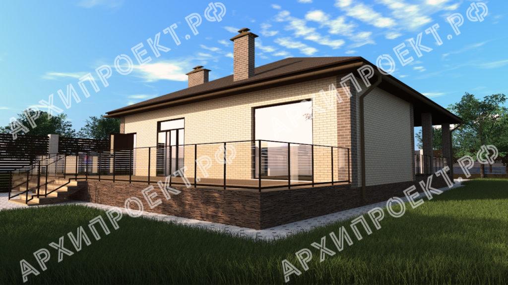 Проект дома с камином купить