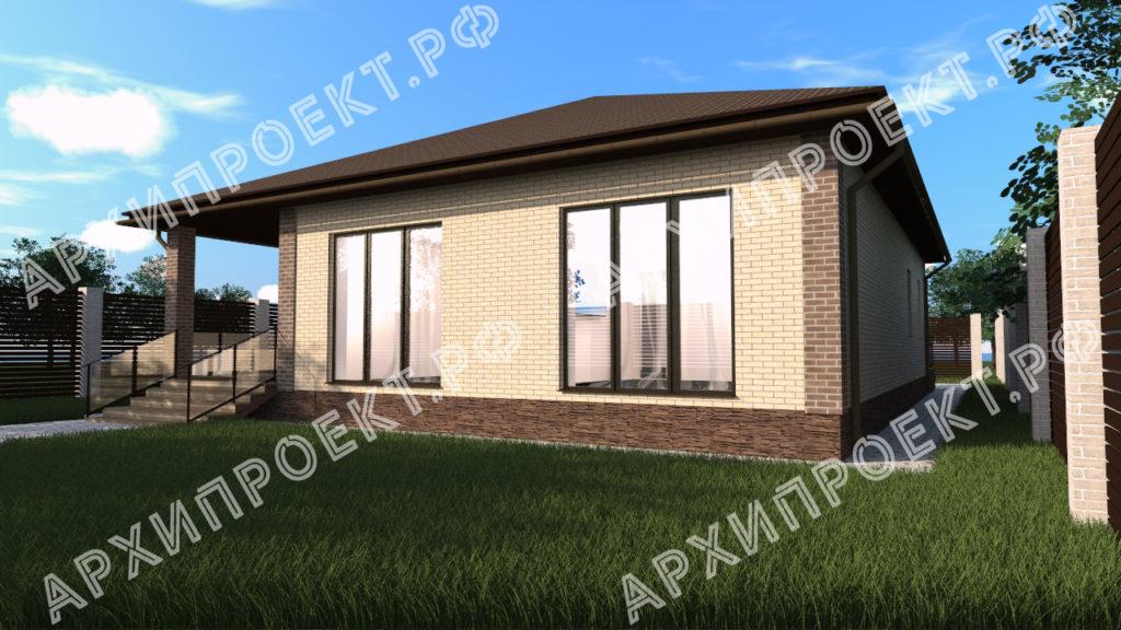 Проект дома с камином фото