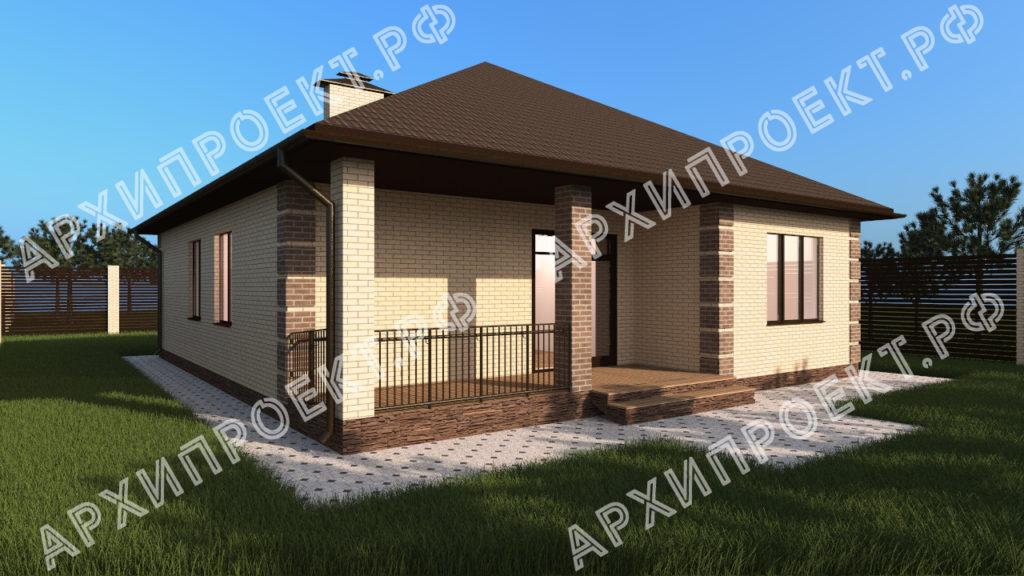 Одноэтажный дом планировка с террасой