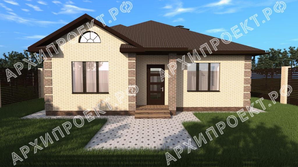 Одноэтажный дом планировка