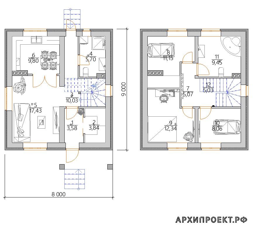 Проект дома на дачном участке планировка