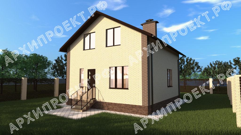 Проект дома на дачном участке на задний двор