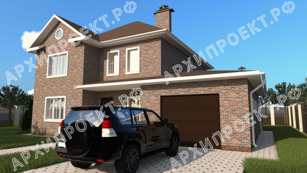 Коттедж с гаражом и баней