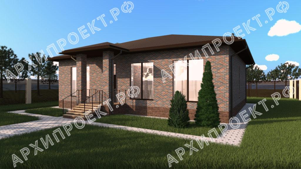 Дом с большими окнами и камином купить проект